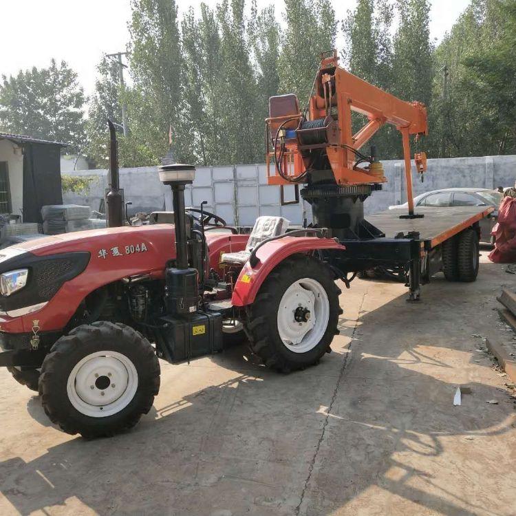 厂家直销支持定做拖拉机大平板随车吊拖拉机吊车拖拉机随车吊