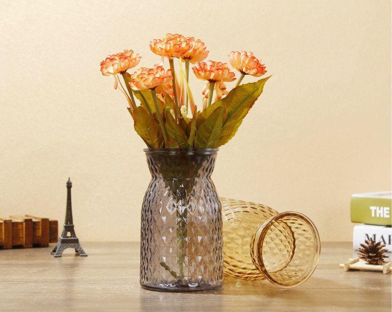 批发布袋花瓶玻璃瓶复古彩色玻璃花瓶家居摆件玻璃插花瓶厂家直销