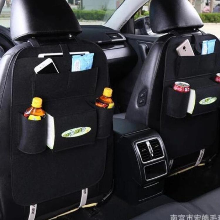 厂家直销毛毡置物袋汽车座椅收纳袋批发汽车座椅收纳包杂物储物包