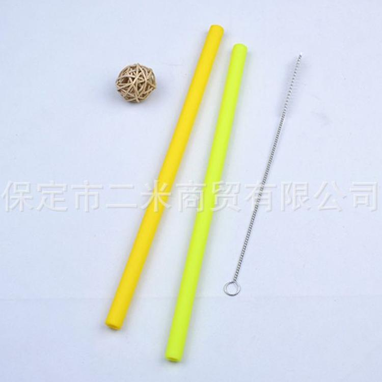 硅胶吸管套装硅胶吸管布袋加加硅胶吸管不锈钢吸管硅吸管