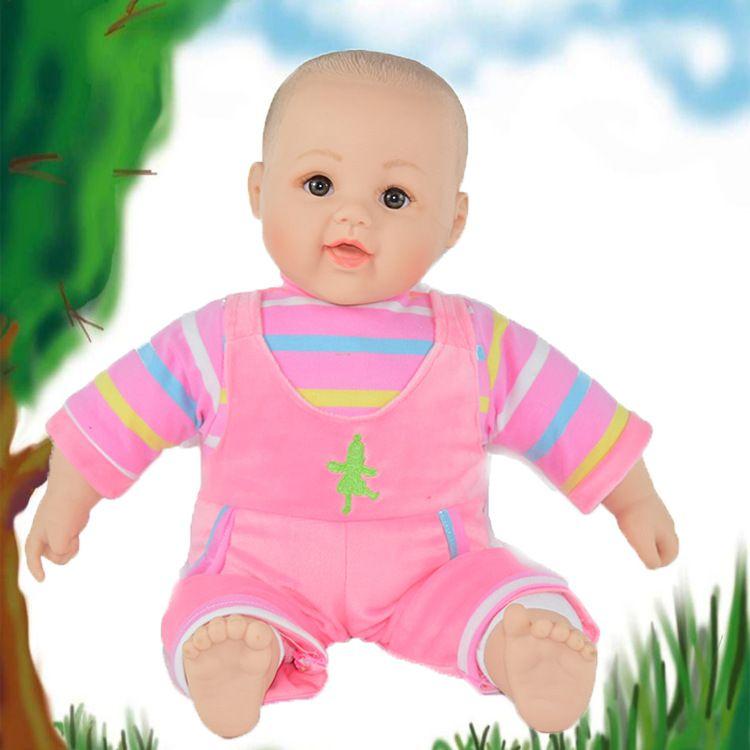 搪胶填充娃娃订制创意吉祥物半填充玩具娃娃安全环保仿真儿童玩具