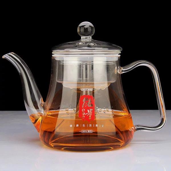 高鹏硅玻璃茶壶大容量电陶炉玻璃煮茶壶黑茶蒸茶壶加厚能量壶