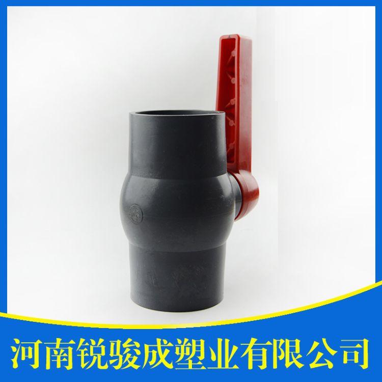 锐骏成厂家直销PVC灰色球阀pvc插口球阀PVC给水管材灰色球阀批发