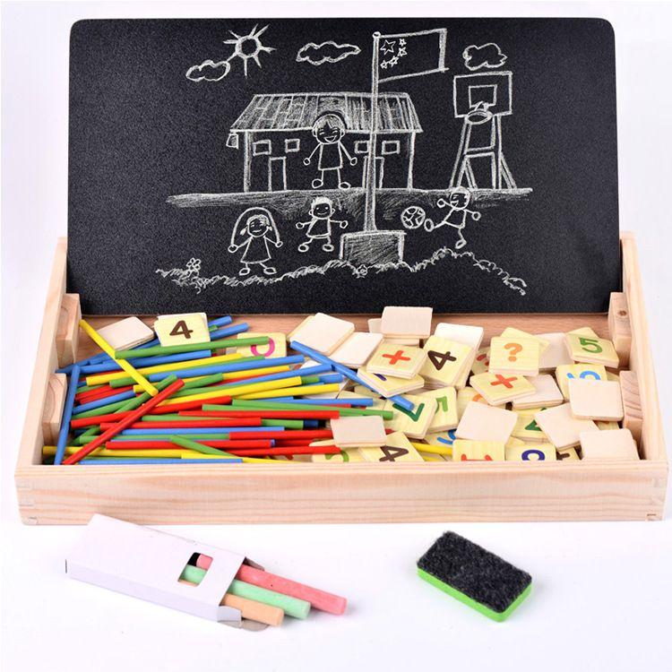 儿童算术棒蒙氏教具 幼儿园数字学习盒益智小棒 木制玩具厂家直销