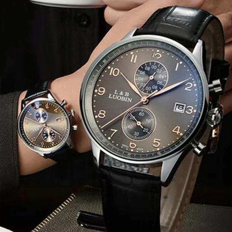 一件代发罗宾品牌手表厂家批发商务防水运动时尚夜光男表男士手表