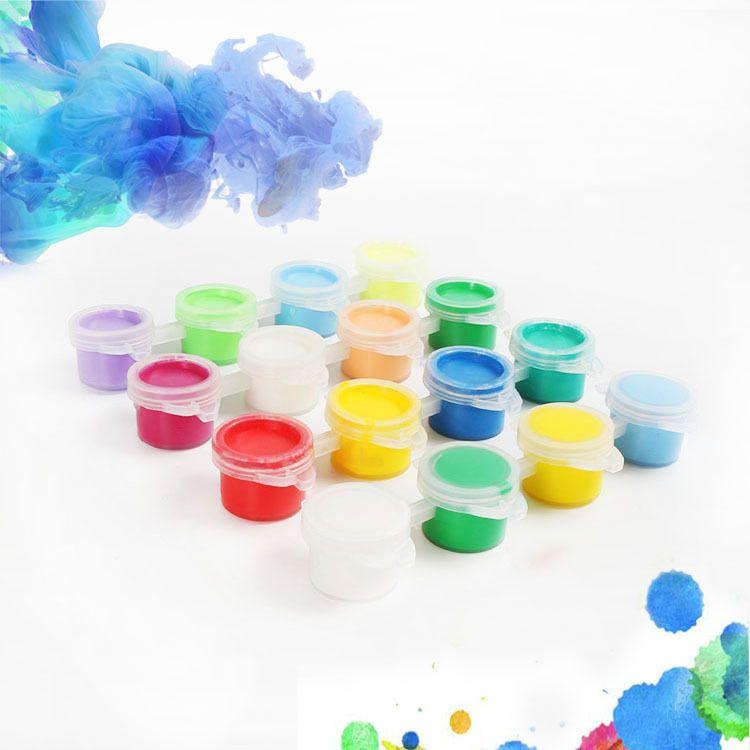 3ml4色水彩颜料条 涂鸦颜料 彩绘颜料 色泽鲜艳儿童手绘颜料
