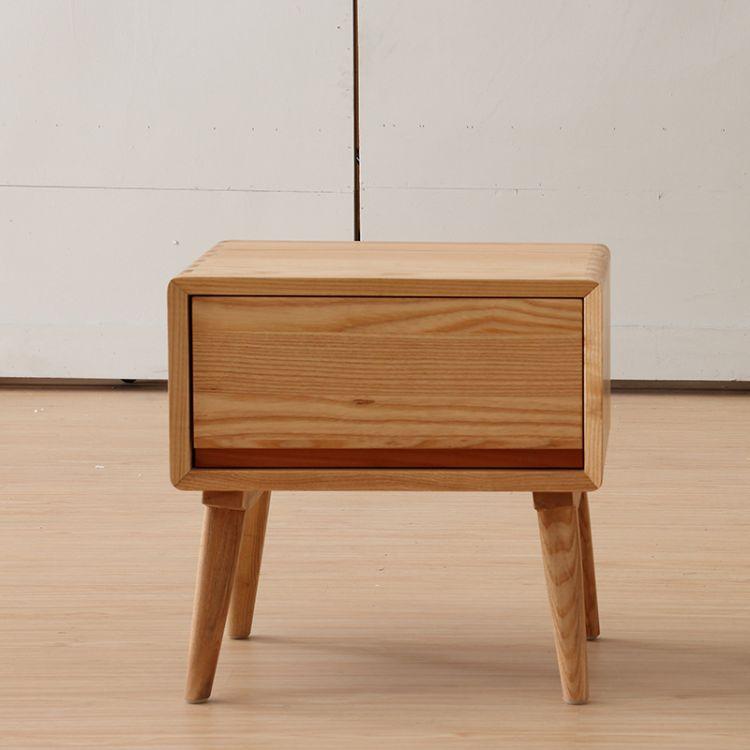 大蜡木北欧实木床头柜卧室家具  收纳柜床边柜白蜡木全实木床头柜