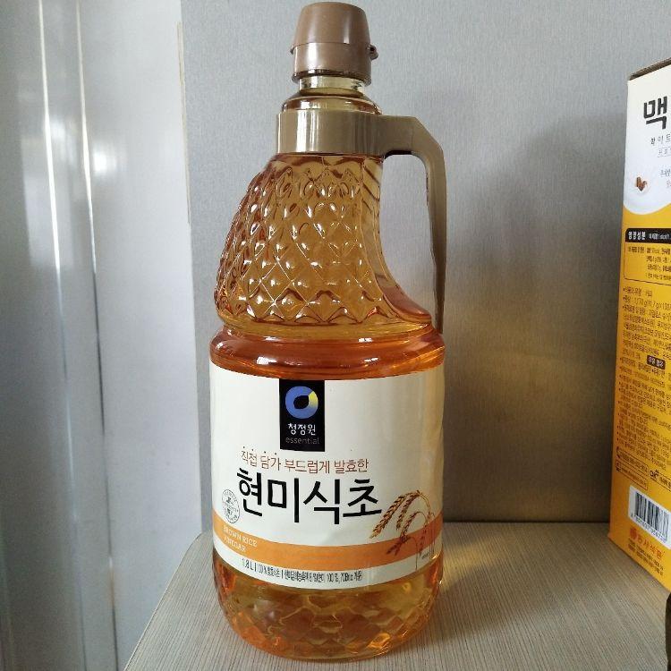 原装进口玄米醋 韩国清净园玄米醋1.8L 寿司醋凉拌调味醋