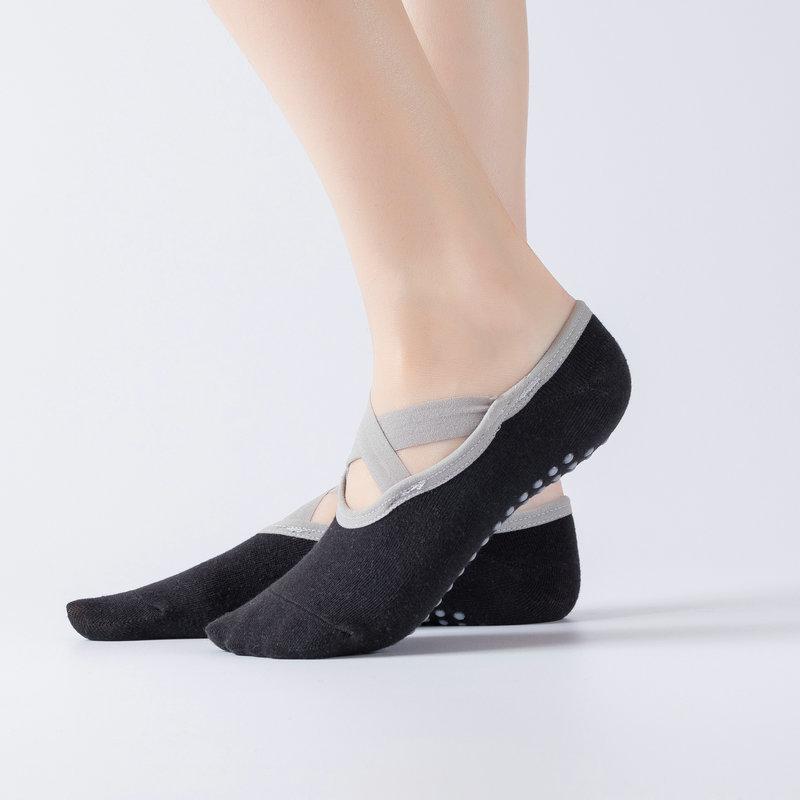 专业瑜伽交叉系带地板袜瑜伽袜健身瑜伽袜子运动防滑地板袜