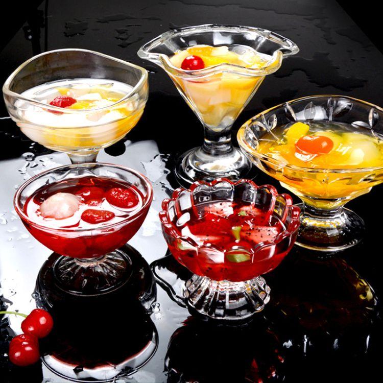 【冰淇淋玻璃杯】创意莲花玻璃杯厂家直销甜品奶昔杯冰淇淋玻璃杯