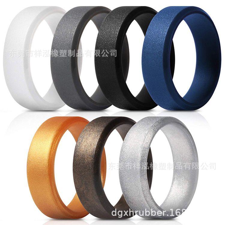 硅胶戒指定制创意指环欧美热销情侣戒指手环个性硅胶指环