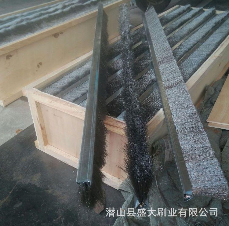 厂家批发尼龙条刷  门底防尘密封毛刷  铝合金条刷 不锈钢丝条刷
