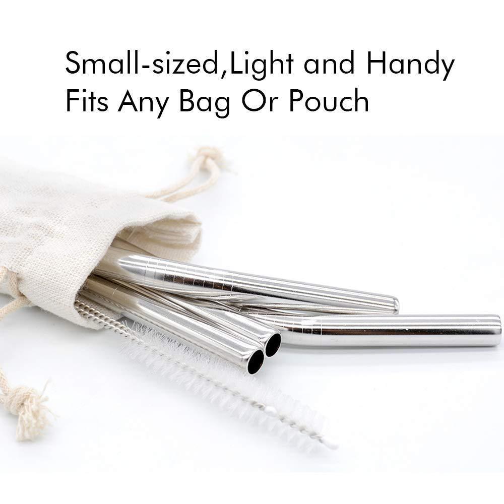 厂家304不锈钢吸管麻袋布袋包装套装