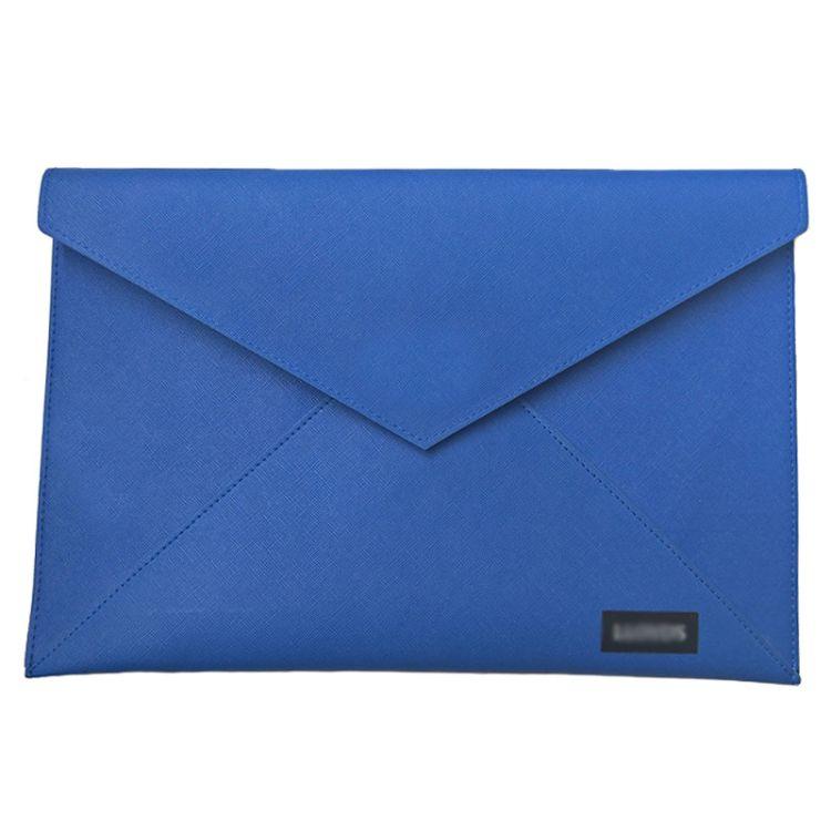 新款PU皮质时尚手挽文件袋  A4事务按扣资料包 手提公文袋