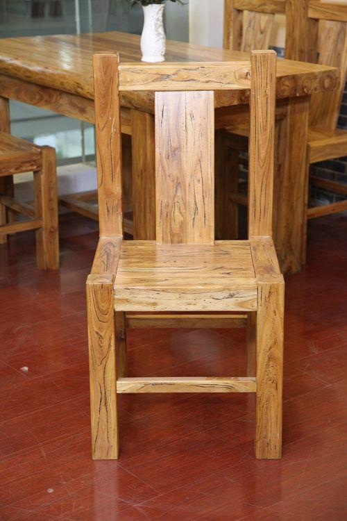 老榆木餐桌-餐椅-老榆木茶台-老榆木酒店用品-老榆木家具