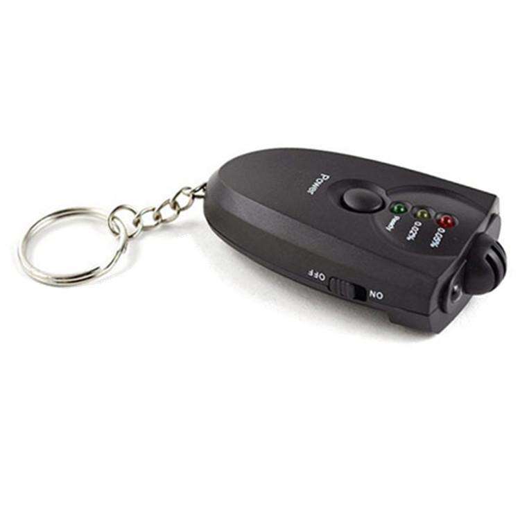 呼吸式酒精检测仪便携测酒精测试仪钥匙扣带LED功能厂价直销