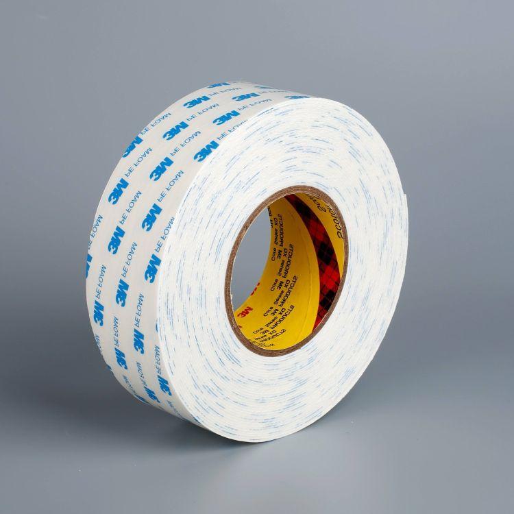 供应3M1600T双面胶 白色PE泡棉双面胶 海绵胶贴 3M强力胶带