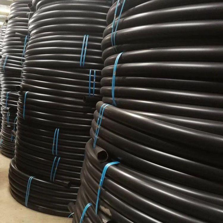 厂家货源黑色PE穿线管DN20-200电线绝缘防护套管通信电缆PE穿线管