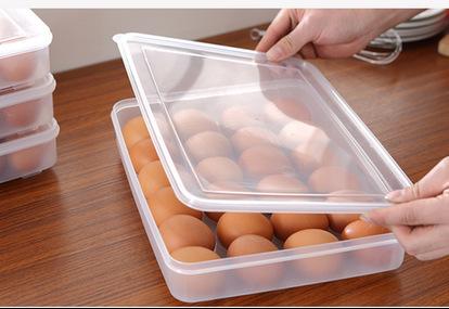 厂家直销  单层24格塑料蛋托冰箱鸡蛋收纳盒鸡蛋冷藏储物盒鸡蛋盒