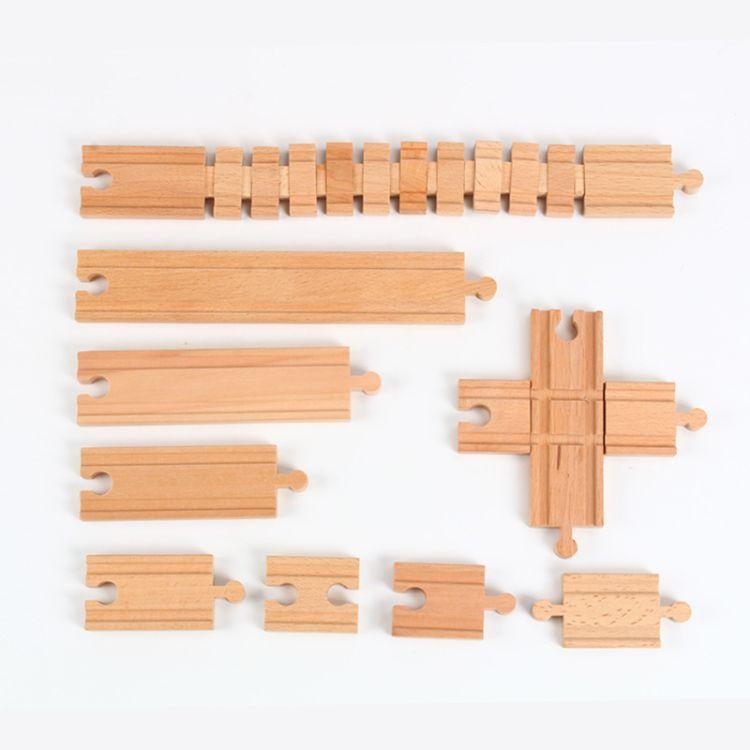木质托马斯火车散装轨道配件直轨系列 轨道场景益智玩具