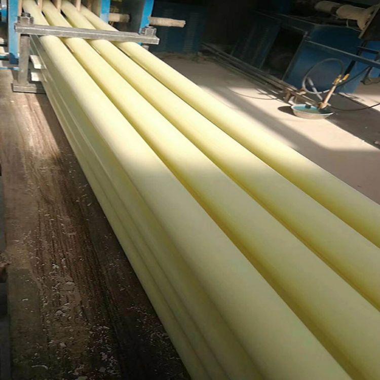 可加工米黄色耐磨浇注尼龙圆棒MC浇筑尼龙棒浇铸含油尼龙棒材