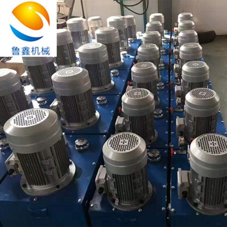小型液压泵站厂家 电动升降机货梯平台泵站厂家价格 LXBZ-4 济南鲁鑫 手动液压泵站