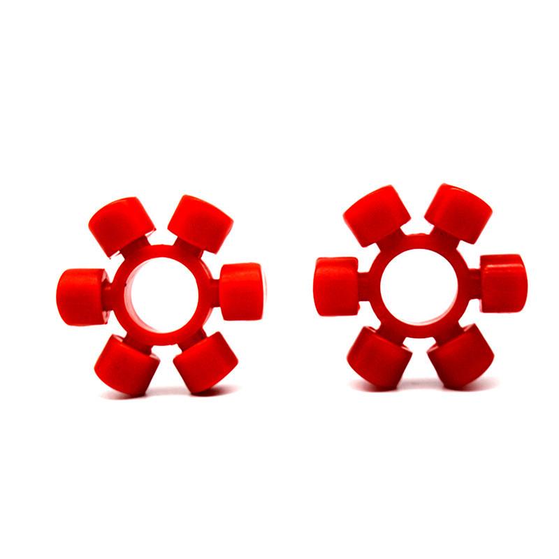 米型联轴器弹性垫 六角块椭圆胶垫 米字型梅花垫缓冲垫