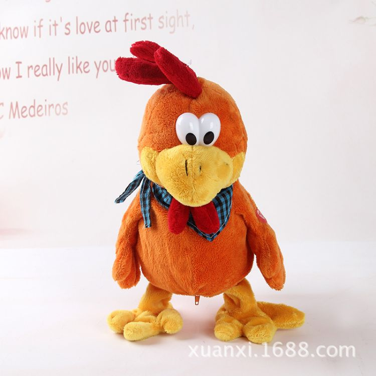毛绒电动玩具厂家现货批发 布谷鸡鸭子小动物会唱歌跳舞儿童玩偶