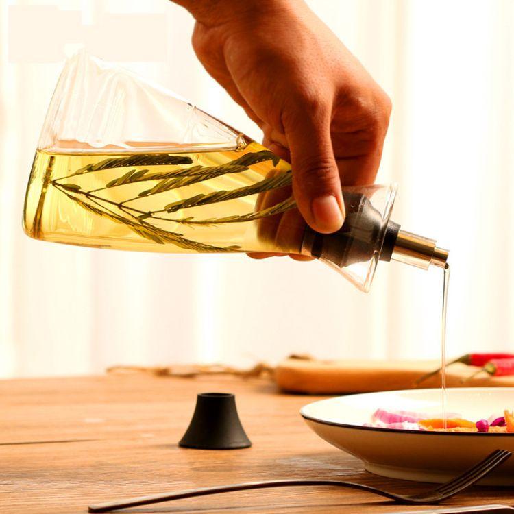 创意家用厨房防漏大小号玻璃油壶酱醋油瓶批发定制