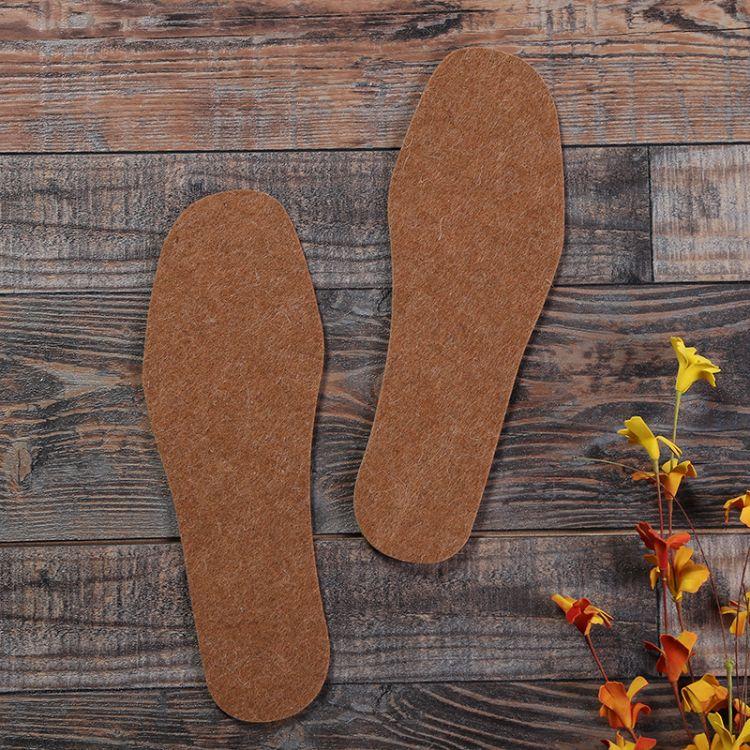 厂家批发保暖驼绒毛毡鞋垫 纯色防潮除臭鞋垫跑江湖地摊暴利产品
