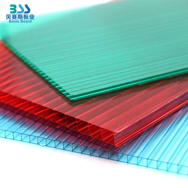 pc中空蜂窝阳光板加工厂家直销透明聚碳酸酯板雨棚采光蓝色阳光板