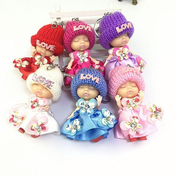 新款迷糊娃娃女孩玩具超萌娃娃批发迷你书包挂件生日礼物睡娃娃