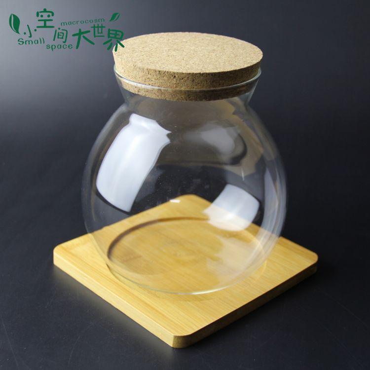 微景观生态瓶 木塞玻璃瓶 苔藓DIY玻璃瓶 带灯木塞生态瓶