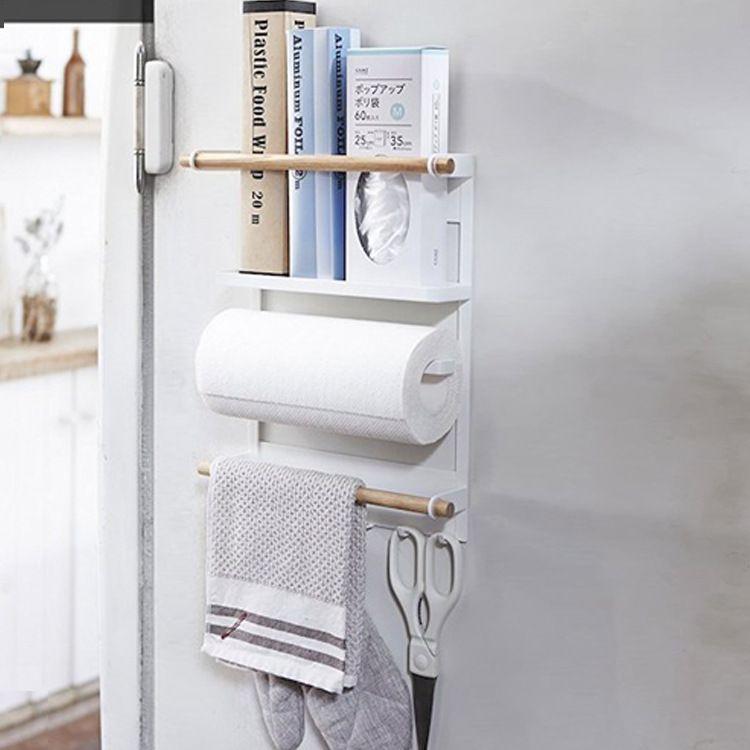 冰箱架纸巾墙壁餐具收纳杂物吸铁式置物挂钩 厨房收纳架 店主推荐