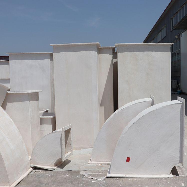 冠德厂家加工空调通风管道 耐高温无机玻璃钢排烟管道 氯氧镁水泥通风管道