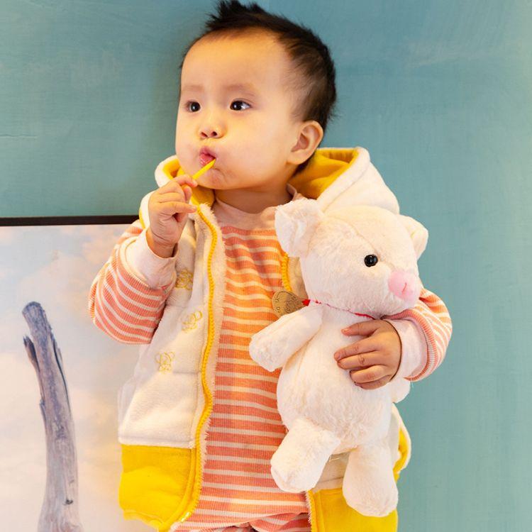 毛绒兔毛小猪公仔毛绒玩具婴儿安抚玩偶抓机娃娃丑萌公仔