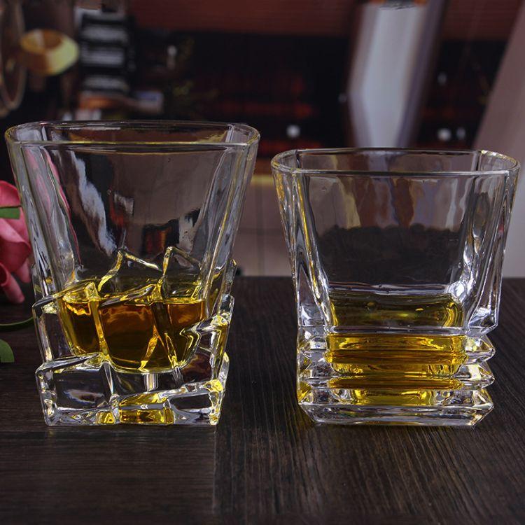 厂家现货直销创意玻璃威士忌杯定制烤花玻璃杯广告礼品玻璃杯