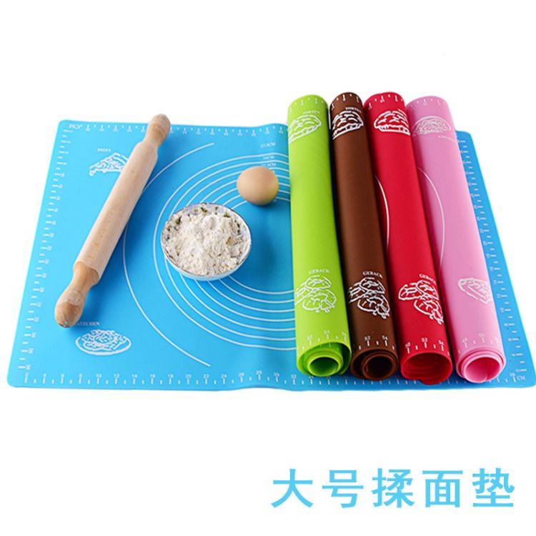 大号40*60带刻度硅胶案板揉面垫防滑不沾烘焙垫面粉烤箱垫耐高温