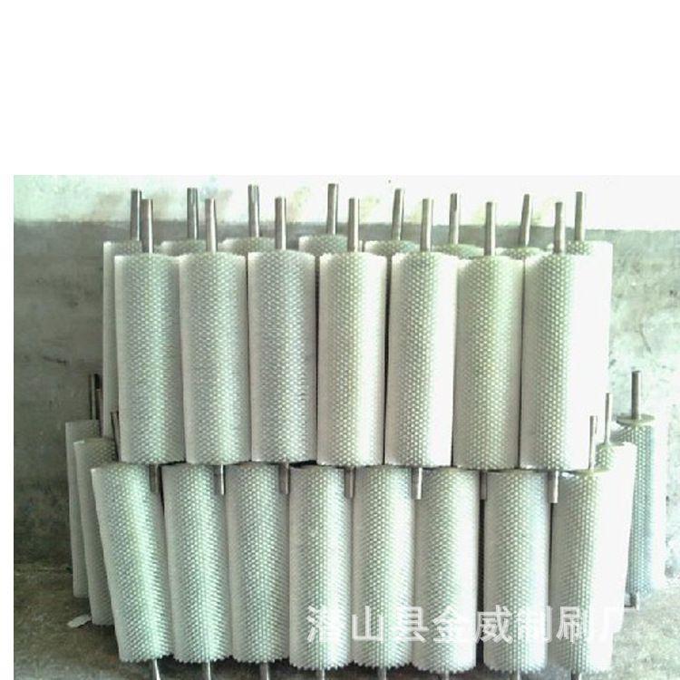 机械尼龙丝毛刷辊 工业机械毛刷辊 除尘毛刷辊 清洗机毛刷辊定制