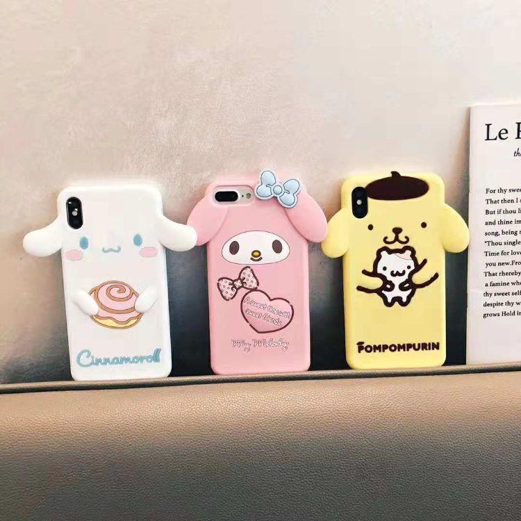 新款 卡通美乐蒂硅胶适用iPhonexsmax可爱布丁狗xr/x硅胶手机套7p