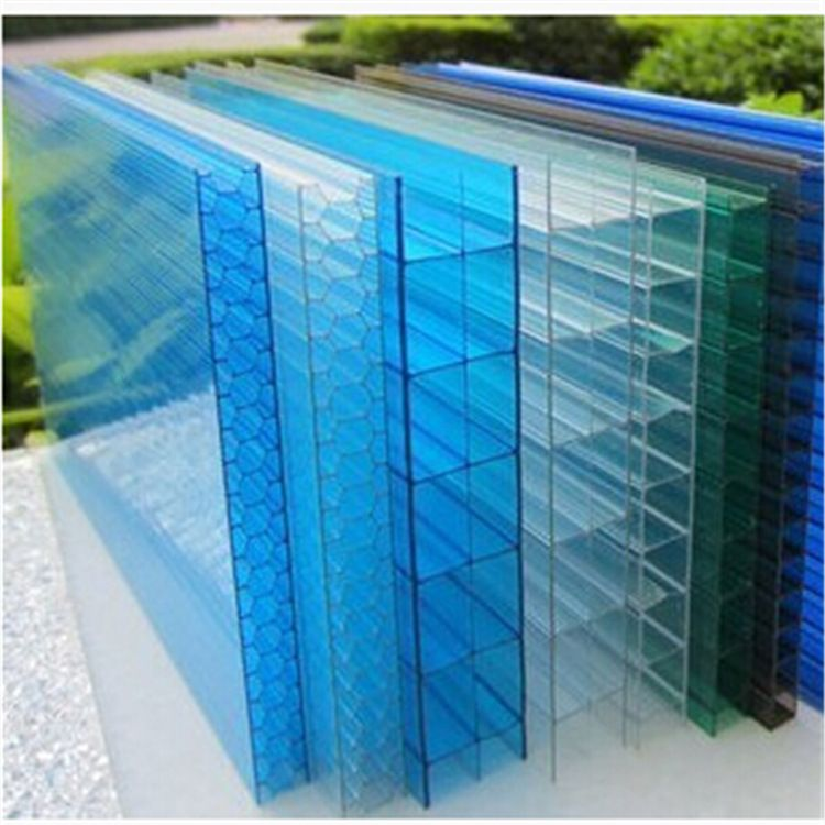 采光顶棚环保节能专用PC温室板中空阳光板PC抗紫外线耐力板