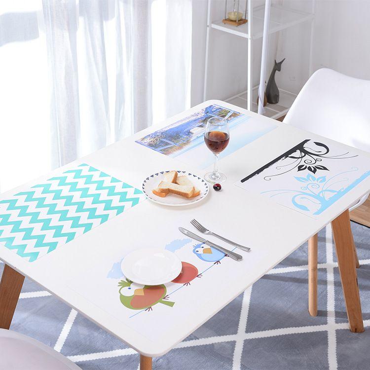 欧式防水餐桌垫防热垫创意餐垫盘子碗垫锅垫长方形塑料隔热垫批发