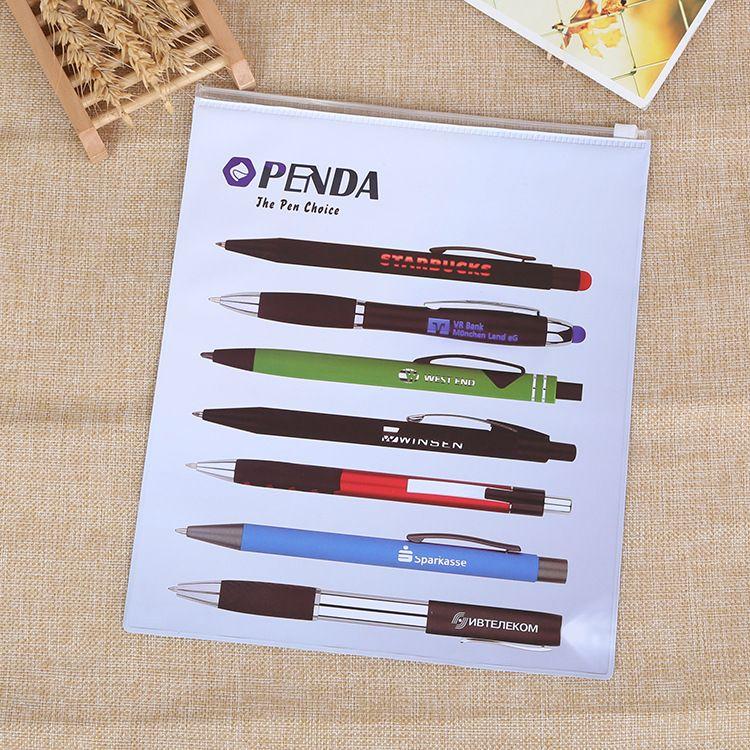 自封pvc拉链袋 透明卡通学生拉链袋 磨砂pvc文具袋可加印LOGO