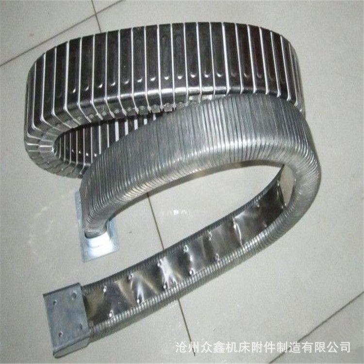 定制金属穿线软管 油管保护金属软管 矩形金属软管