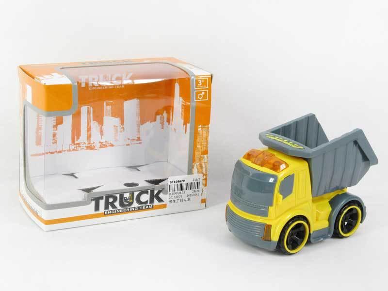 卡通迷你惯性工程斗车黄色小工程玩具车婴儿玩具车玩具