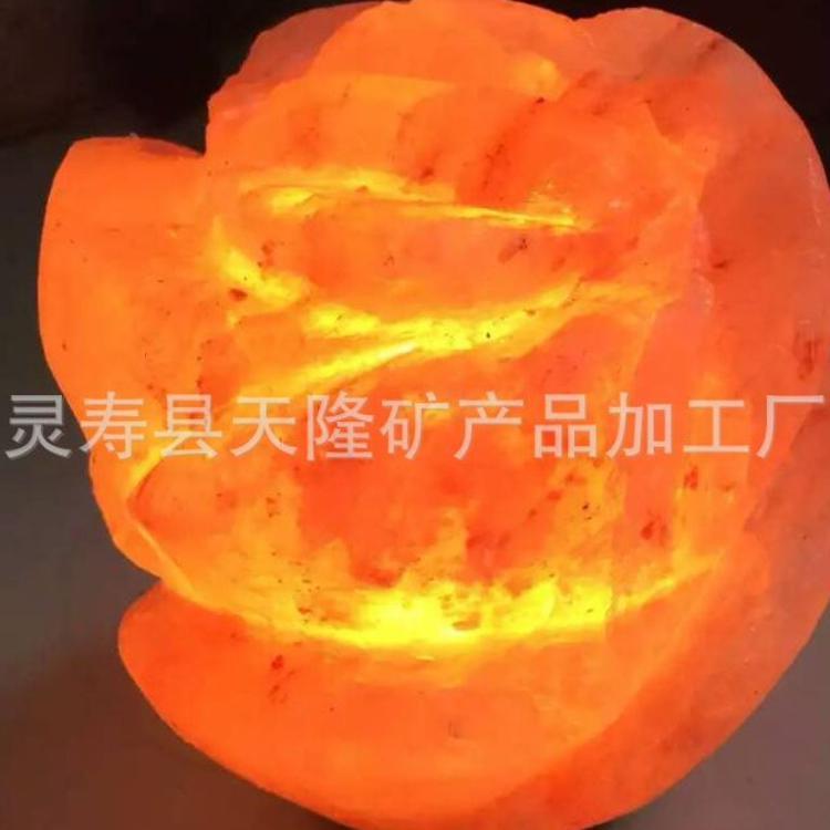 水晶盐灯 汗蒸房盐屋盐浴专用负离子灯 工艺造型灯