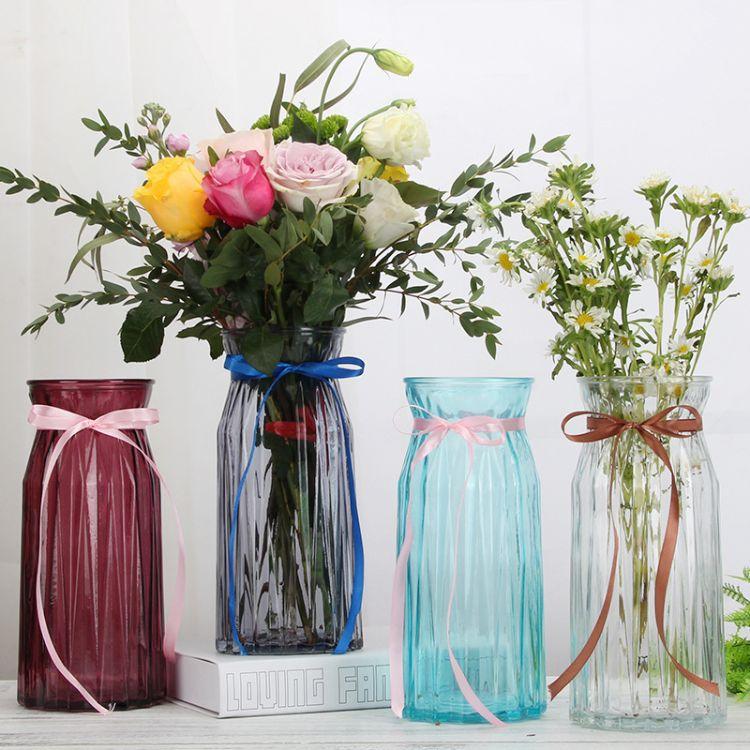 玻璃创意干花花瓶折纸玻璃花瓶 欧式家居桌面摆件装饰插花瓶