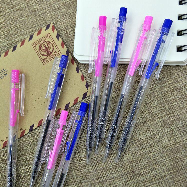厂家直销普通简单圆珠笔 弹跳圆珠笔 可按动子弹型套装组合圆珠笔