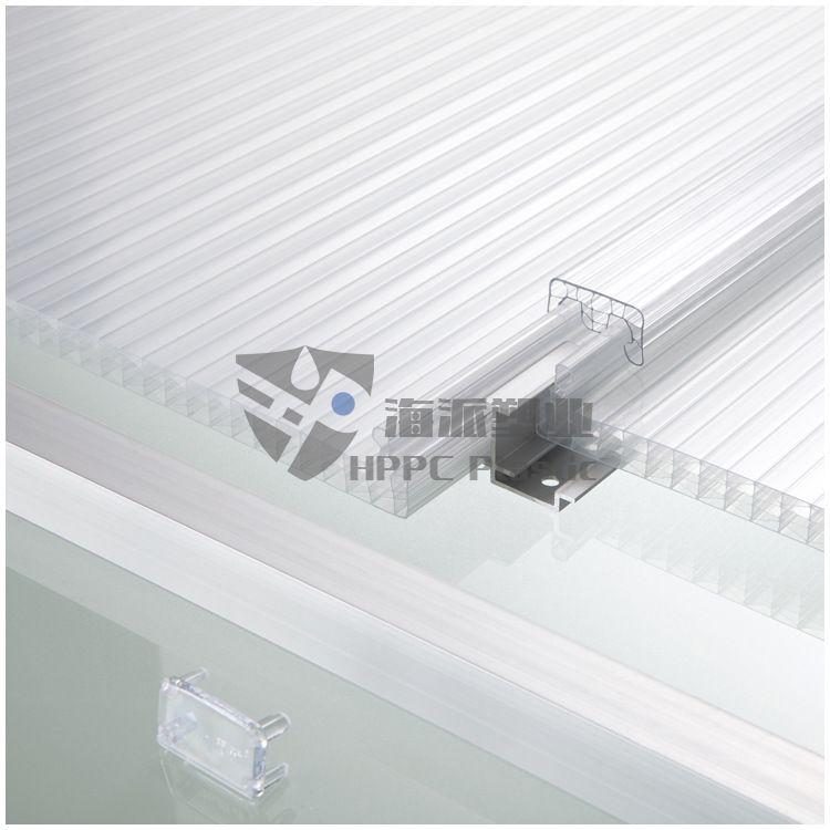厂家批发u型六层菱形PC聚碳酸酯屋面采光防漏水中空阳光板锁扣板