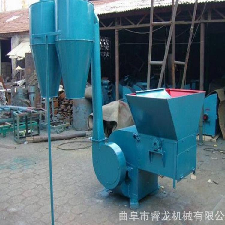 沙克龙秸秆粉碎机 农用自动进料粉碎机 供应双筒式除尘粉碎机